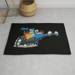 Top Fuel Dragster Cartoon Rug