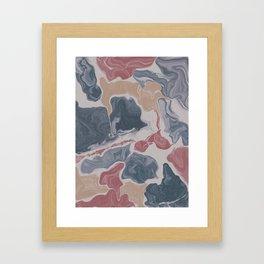 Abstract Liquid Geode Framed Art Print