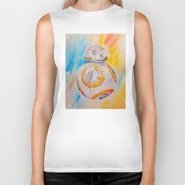 BB8 watercolor painting Biker Tank