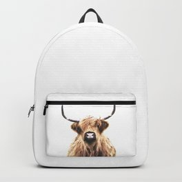 Highland Cow Portrait Backpack