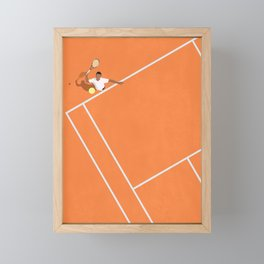French Open Tennis Grand Slam  Framed Mini Art Print