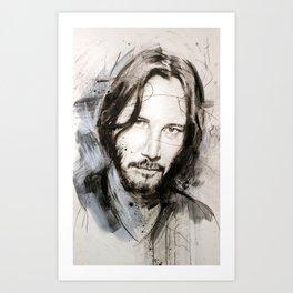 Sad Keanu Art Print