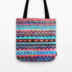PATTERN {Tribal Stripe- Aqua} Tote Bag