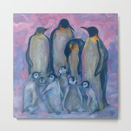 Emperor Penguins, Antarctic Winter Metal Print