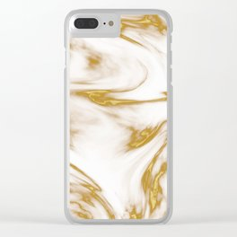 Gold Marble Texture Clear iPhone Case