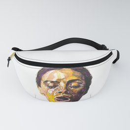 Watercolor painting of Monica Bellucci, Monica Fanny Pack