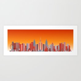 Future Cityscape 001 // Sunset Art Print