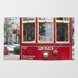 New Orleans 2023 Canal Streetcar Rug