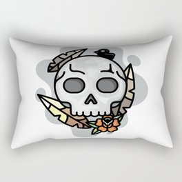 skull and feathers Rectangular Pillow