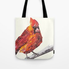 Red Cardinal Bird Collage Tote Bag