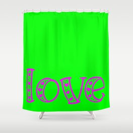 Love & Flashy Colors Shower Curtain