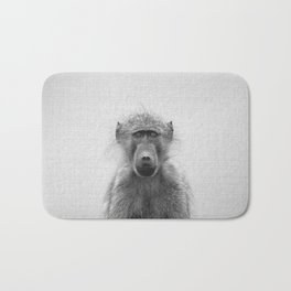 Baboon - Black & White Bath Mat