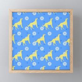 Hippie Dog Framed Mini Art Print