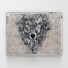 Geometric Wolf Mandala Laptop & iPad Skin