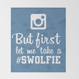 #swolfie Throw Blanket