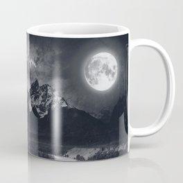 Moon Mountains and River Coffee Mug