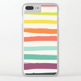 Colorful strokes ,rainbow Clear iPhone Case