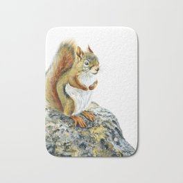 Bright-eyed and Bushy-tailed by Teresa Thompson Bath Mat
