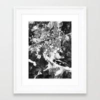 rorschach Framed Art Prints featuring Rorschach by Alter Ego