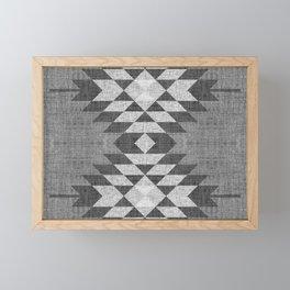 GREY DIAMOND LINEN Framed Mini Art Print