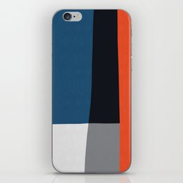Blue and red composition XVIII iPhone Skin