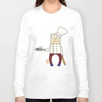 chef Long Sleeve T-shirts featuring THE CHEF!! by Riot Clothing