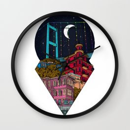 Night carries the lights Wall Clock
