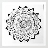 Mandala Shards Art Print