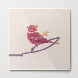 Winter Finch Metal Print