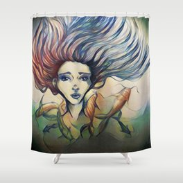 Into The Fish Bowl Shower Curtain