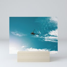 Robinson Helicopter on Shark Watch. Hawks Nest. Australia. Mini Art Print