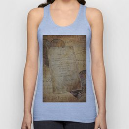 Two Hearts are One - Vintage Romantic Steampunk Art Unisex Tank Top