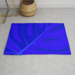 Large Monstera Leaf in Shades of Blue #decor #society6 #buyart Rug