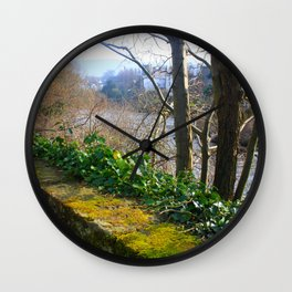 Walk on the River Bank Wall Clock
