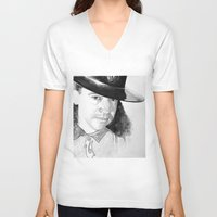 stevie nicks V-neck T-shirts featuring STEVIE RAY  by ART FEEDS HUNGER