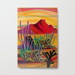Zen Cactus Garden Metal Print