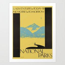 Vintage poster - National parks Art Print