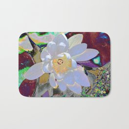 WATER LILLY WHITE Bath Mat