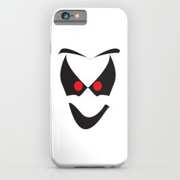 White Halloween Ghost Face iPhone Case