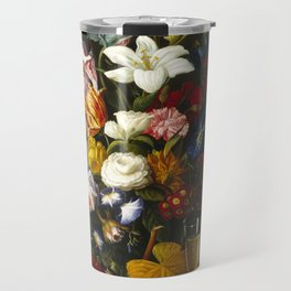 Severin Roesen - Victorian Bouquet Travel Mug