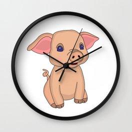 Pretty Piglet Wall Clock