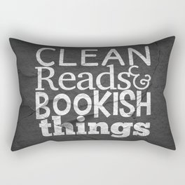 Clean Reads & Bookish Things - CRBB Motto Rectangular Pillow