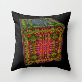 Tech Cubicles   3D Fractal Throw Pillow