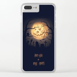 Jack O moon Clear iPhone Case
