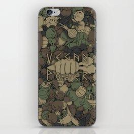 Vegan power iPhone Skin