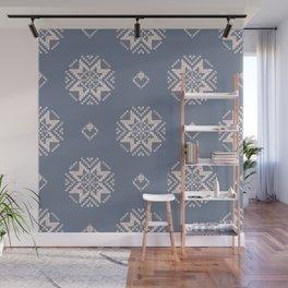 Scandi Knit Ornaments patern 10 Wall Mural