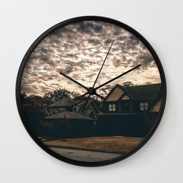 Empty Houses Wall Clock