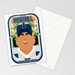 Baseball Blue Pinstripes - Deuce Crackerjack - Indie version Stationery Cards