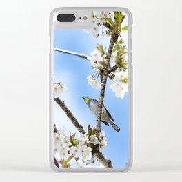 Bird in the Cherry Blossoms Clear iPhone Case
