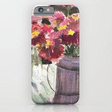 zinnias at sunset iPhone 6s Slim Case